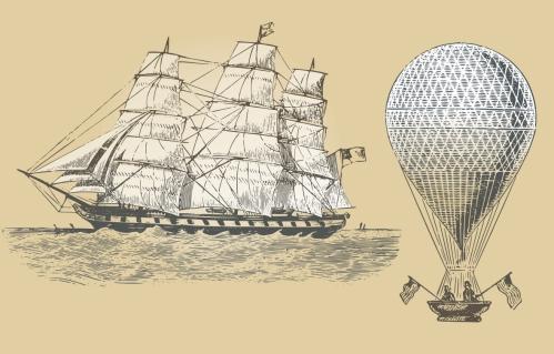 Воздушный шар и Парусник