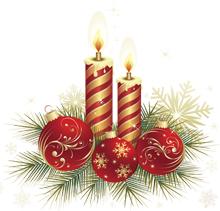 Рождественские свечи украшения