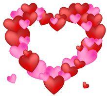 Сердечки Валентинка